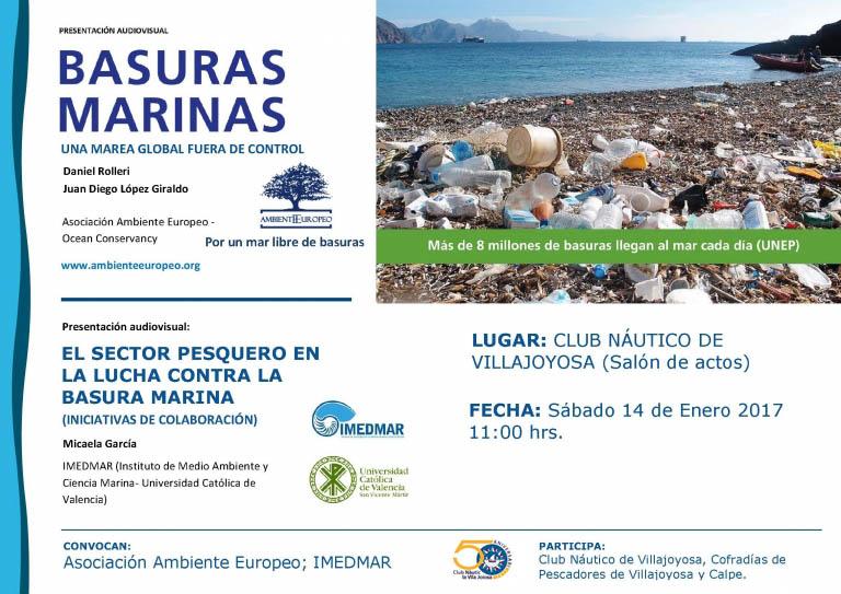 Charla y presentación audiovisuales sobre los residuos marinos