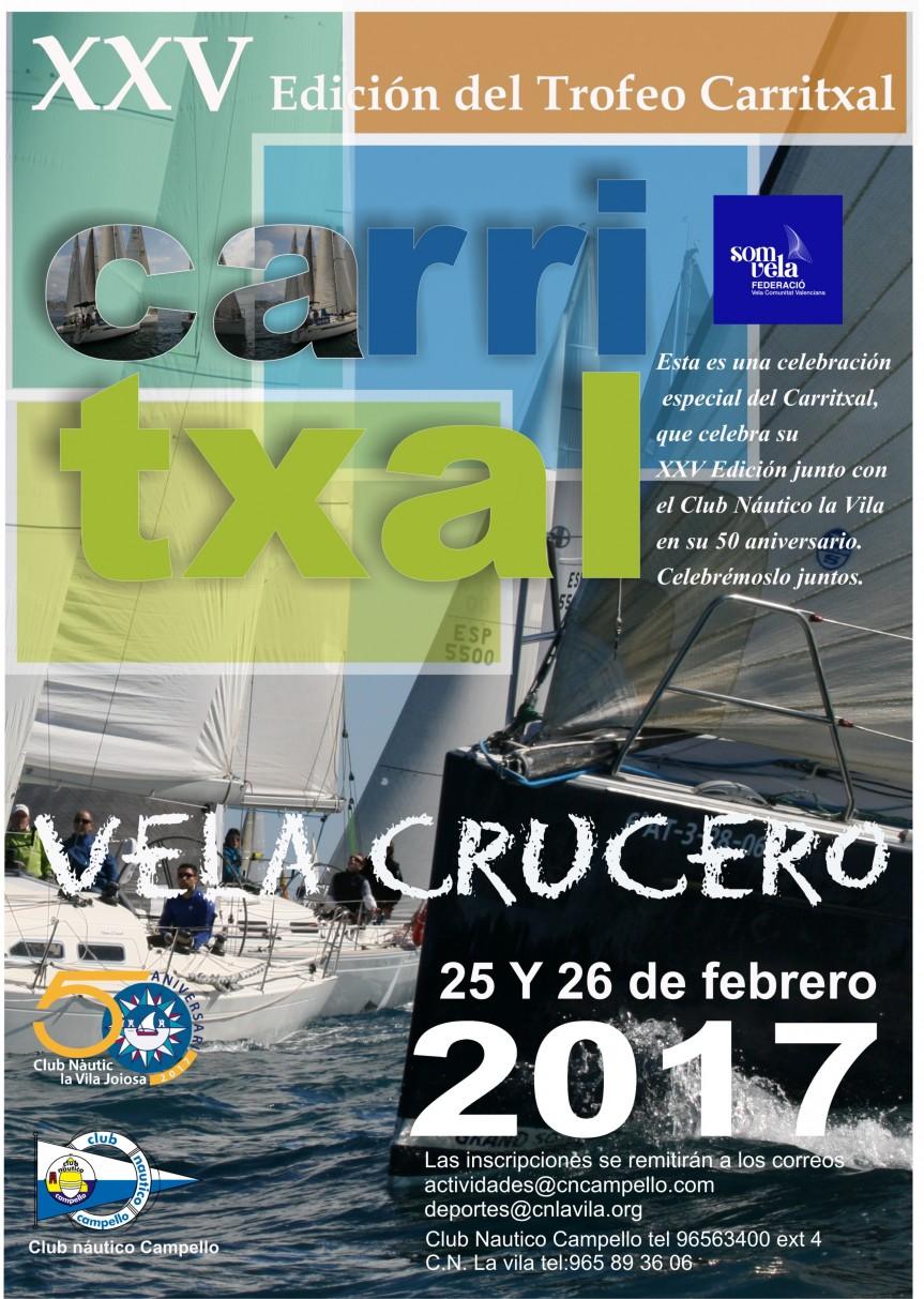 XXV Trofeo Carritxal de Vela Crucero Campello – La Vila:  25-26 febrero