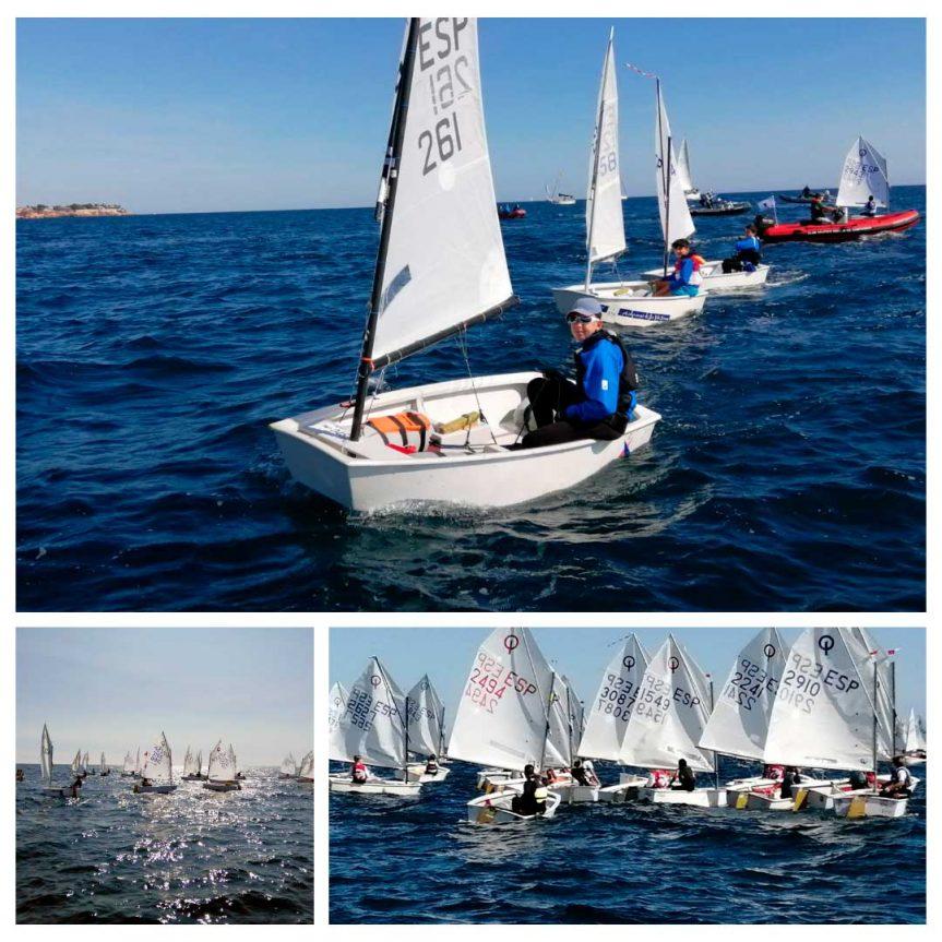 Se celebra la Primera regata de la temporada 20-21 de Optimist B en el Club Náutico Dehesa de Campoamor después de 8 meses sin competición.