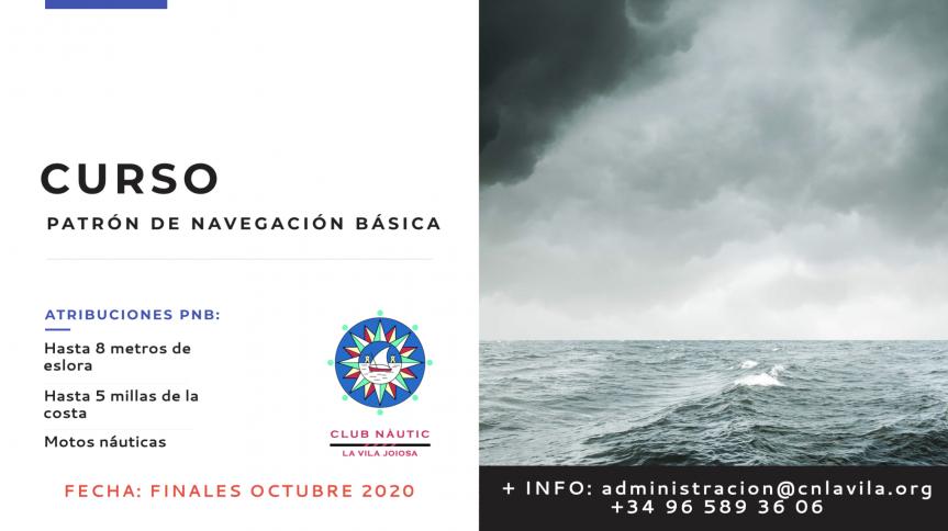 Curso de patrón de navegación básica (PNB) a finales de Octubre en CN La Vila