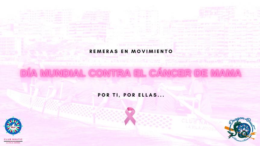 Día mundial contra el cáncer de mama: El Club Náutico de La Vila muestra su apoyo a las mujeres afectadas por la enfermedad