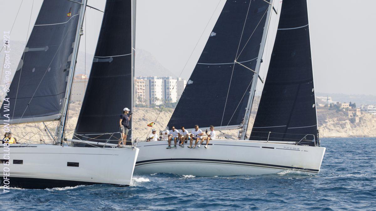 El viento, invitado de lujo en la septima prueba del Trofeo 5 Clubs