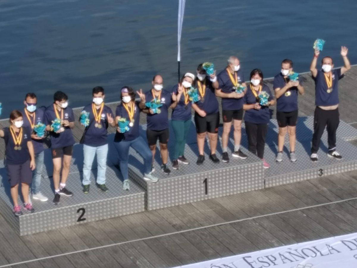 Oro y bronce para los palistas vileros en el V Campeonato de España de Dragon Boat.